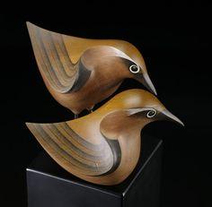 Titipounamu (New Zealand Riflemen) by Rex Homan, Māori artist (KR70801)