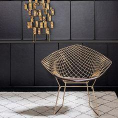 Dena Interiores  : Cadeira Bertoia Diamante -18k Gold