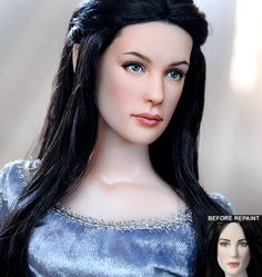 Arwen custom doll repaint by Noel Cruz. He repaints awesome dolls. Check out his gallery on DevArt!
