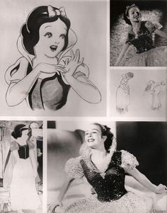 Marge Champion was hired as a teenager to be the model for Snow White. Walt Disney sent his scout to her father's dance studio and she was amongst three chosen, and eventually, became the real Snow White. A young girl's dream role, she was dressed as Snow White and danced and posed for animators who echoed her movements in their drawings for the animated 1937 movie.