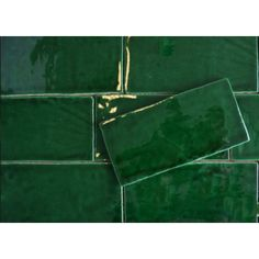 "Konings Groen ""esmarald green"" handvorm glans 7.5x15 cm"