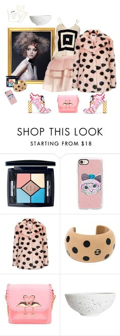 """""""Fashion Freckles"""" by juliabachmann ❤ liked on Polyvore featuring Sophia Webster, Emilio De La Morena, Christian Dior, Casetify, Topshop and Karl Lagerfeld"""
