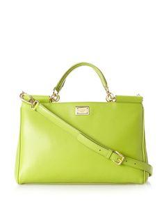 Dolce & Gabbana Convertible Shopping Bag Green
