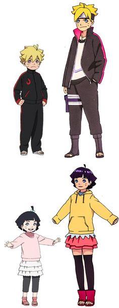 Himawari and Boruto Uzumaki Naruto Shippuden Sasuke, Anime Naruto, Naruto Shippudden, Otaku Anime, Manga Anime, Naruko Uzumaki, Naruhina, Loki Drawing, Wallpapers Naruto