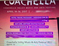 #Tickets Weekend One Coachella VIP Passes Hotel Package for FOUR(4)At La Quinta 4/14-4/17 #Tickets