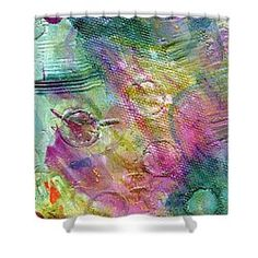 Abstract Shower Curtain by Cassie Peters