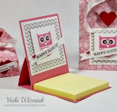 """Wizard's Hangout: Valentine 3""""x3"""" Post-it Note Cover {instructions}"""