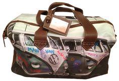 Campervan Gift - Urban Campers Graffiti Campervan Holdall Travel Bag, £39.95 (http://www.campervangift.co.uk/urban-campers-graffiti-campervan-holdall-travel-bag/) #kombilove