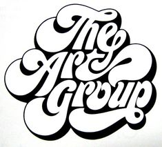 pinterest.com/fra411 #typography #lettering The Art Group