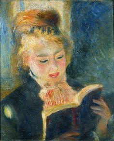 La Liseuse (1890) d'Auguste Renoir. (Musée d'Orsay, Paris.)