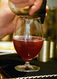 How to make Rabbit's rhubarb cocktail: video