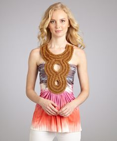 Sky pink stretch jersey bead embellished sleeveless top   BLUEFLY up to 70% off designer brands