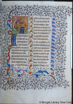 Book of Hours, MS M.1004 fol. 8r - Images from Medieval and Renaissance Manuscripts - The Morgan Library & Museum