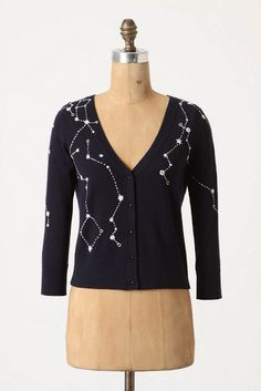 DIY Anthropologie Kites and Constellations Star Cardigan