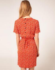 Ganni Spotty 40s Dress in Orange (fiesta)   Lyst