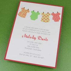 baby shower invitation template u2013 onesie girl design