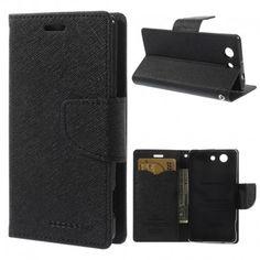 Sony Xperia Z3 Compact Musta Fancy Suojakotelo  http://puhelimenkuoret.fi/tuote/sony-xperia-z3-compact-musta-fancy-suojakotelo/
