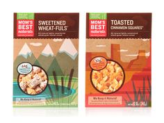 Packaging of the World: Creative Package Design Archive and Gallery: Mom's Best Naturals Best Cereal, Whole Grain Wheat, Mexican Chocolate, Creative Package, Mother And Baby, Packaging Design Inspiration, Baby Design, Box Packaging, Package Design
