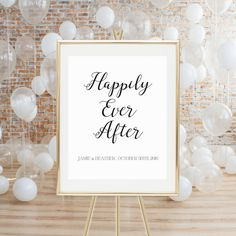 PRINTABLE WEDDING SIGN   Happily Ever After  by LuminousPrints