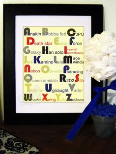Star Wars Alphabet Print by DeLamour on Etsy, $5.00