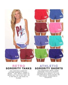 Have you checked out our GREEK LOVE soft colors tanks or our athletic shorts? Head over to ShopRiffraff.com today!
