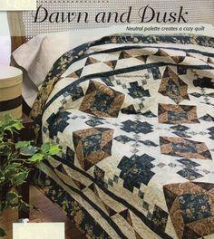 Dawn And Dusk Quilt Pattern Pieced JL