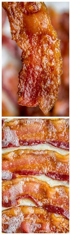 How to Bake Bacon in the Oven in 12 Minutes ~ It is SO much easier to bake bacon than to stand over a hot stove getting splattered with grease. And you can make a whole pan at a time, making it great for a crowd.