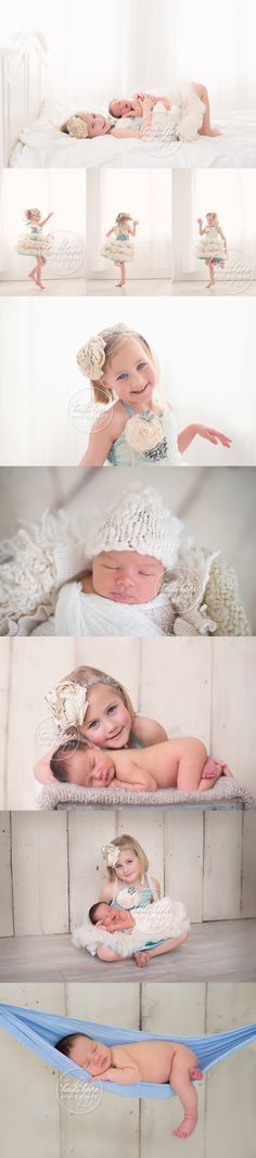 newborn baby boy and big sister sibling portrait photographer