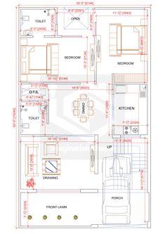 2bhk House Plan, Model House Plan, House Layout Plans, Duplex House Plans, House Layouts, 40x60 House Plans, House Floor Plans, Village House Design, Duplex House Design