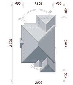 Sytuacja DN Verona CE Beautiful House Plans, Beautiful Homes, Roof Plan, Verona, Ibiza, My House, How To Plan, Dom, Home Decor