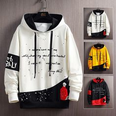 Off White Hoodie Men, Black And White Hoodies, Black White, Best Hoodies For Men, Trendy Hoodies, Boys Hoodies, Mens Designer Shirts, Hip Hop, Mens Sweatshirts