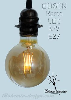LED žárovka Edison 4W/230V patice E27 (retro) model Eb1111