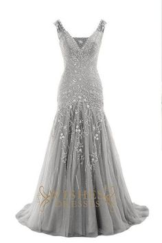This long dress make of delicate embroidery and handmade beads with v  neckline and orhanza skirt d7c6c2f3ffb4