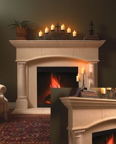 pull in barnboard from kitchen countertop to play with fireplace ...