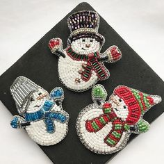69 Best Ideas for embroidery gifts christmas Bead Embroidery Jewelry, Beaded Embroidery, Beaded Jewelry, Bridal Jewelry, Brooches Handmade, Handmade Necklaces, Handmade Jewelry, Beaded Crafts, Beaded Ornaments