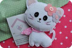 kitty felt art creation for inspiration