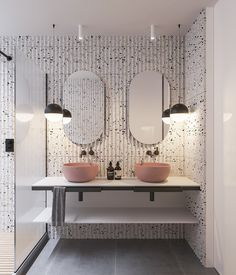 Modern Bathroom Color Schemes - Modern Bathroom Color Schemes , Small Interiors Under 70 Sqm that Will Have You Tickled Pink Bathroom Design Inspiration, Bad Inspiration, Bathroom Interior Design, White Bathroom, Modern Bathroom, Master Bathroom, Bathroom Ideas, Pink Bathrooms, Bathroom Organization