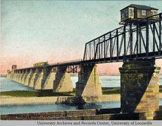 Panhandle Bridge over the Ohio River at Louisville, Kentucky built in 1870.