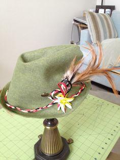Custom Tryolean Alpine style hat Oktoberfest by TheEnchantedNana, $25.00