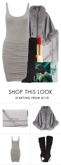 """""""Class with Sass"""" by wateveruwant ❤ liked on Polyvore featuring MICHAEL Michael Kors, Harrods, GUESS and Yves Saint Laurent"""