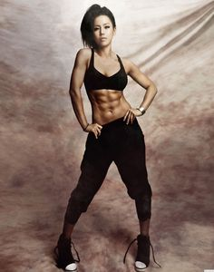 wow asian girl with abs like that. this is a first exercise-and-fitness