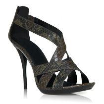 Alannis Snake Print Sandals