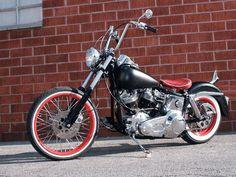 1982 Harley Davidson Wide Glide. Pinstripes, Low Slung, Red Rims & Whitewalls. One Bad Motor Scooter! #harleydavidsonfatboyroadking
