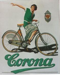 Original Vintage Poster Corona German Bicycles C 1935 | eBay