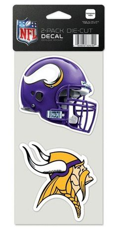 NFL Minnesota Vikings Perfect Cut Decal Set of 2 4 x 4 ** Check out the image by visiting the link.