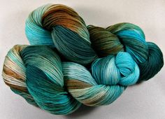 Wooded SW Corriedale/Nylon Yarn fingering weight sock by yarnwench