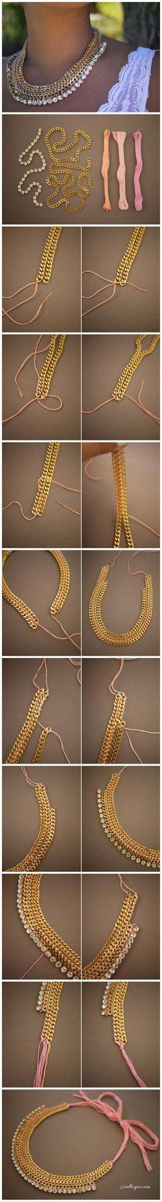 DIY necklaces diy crafts craft ideas easy crafts diy ideas crafty easy diy diy jewelry craft necklace diy necklace diy fashion jewelry diy diy necklaces