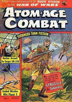 Atom-Age Combat #3 - 1959 - Comic Book Cover Poster