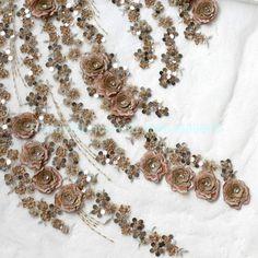 Neue Mode Champgane handgemachte 3D Blumen Perlen von Randyfabrics