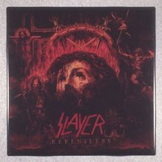 SLAYER Repentless Record Cover Art Ceramic Tile Coaster